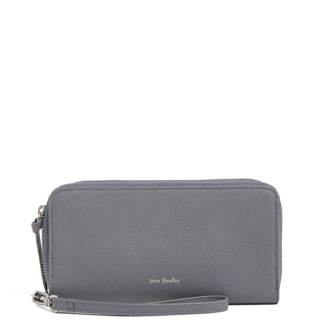 Factory Style Leather RFID Accordion Wristlet-Sycamore Carbon Gray-Image 2-Vera Bradley