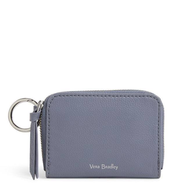 Factory Style Leather RFID Small Wallet-Sycamore Carbon Gray-Image 1-Vera Bradley