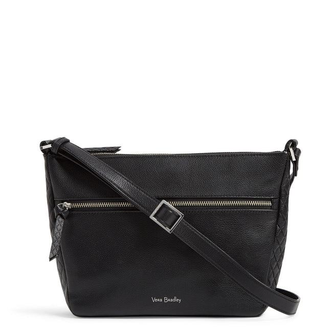Factory Style Leather Small Crossbody-Sycamore Black-Image 1-Vera Bradley
