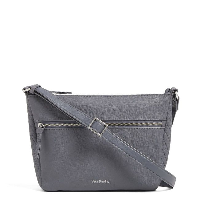 Factory Style Leather Small Crossbody-Sycamore Carbon Gray-Image 1-Vera Bradley