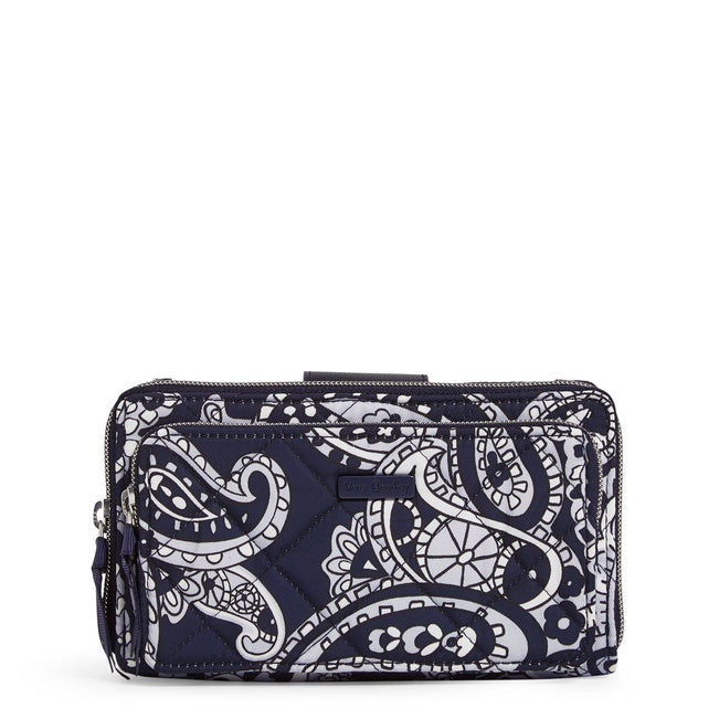 RFID Deluxe All Together Crossbody-Deep Night Paisley Neutral-Image 1-Vera Bradley