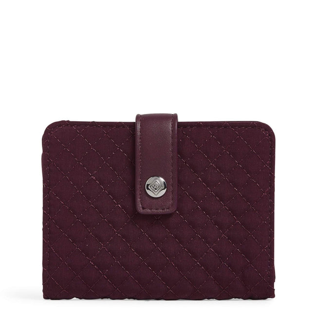 Accordion Card Case-Microfiber Mulled Wine-Image 1-Vera Bradley
