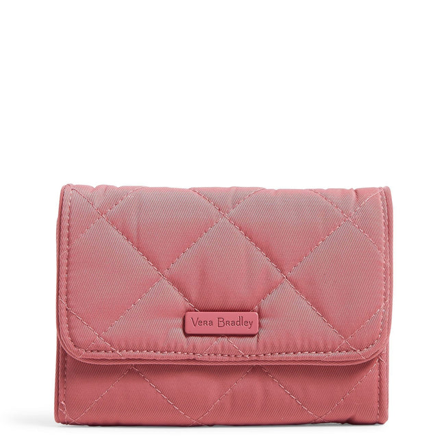 RFID Riley Compact Wallet-Performance Twill Strawberry Ice-Image 1-Vera Bradley