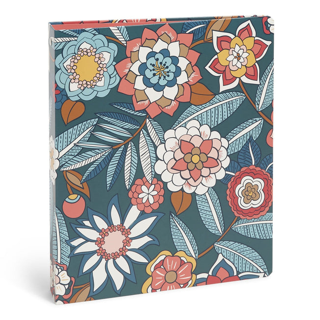Factory Style Three Ring Binder-Tropical Evening-Image 1-Vera Bradley