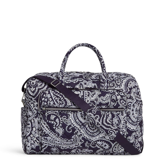 Grand Weekender Travel Bag-Deep Night Paisley Neutral-Image 1-Vera Bradley