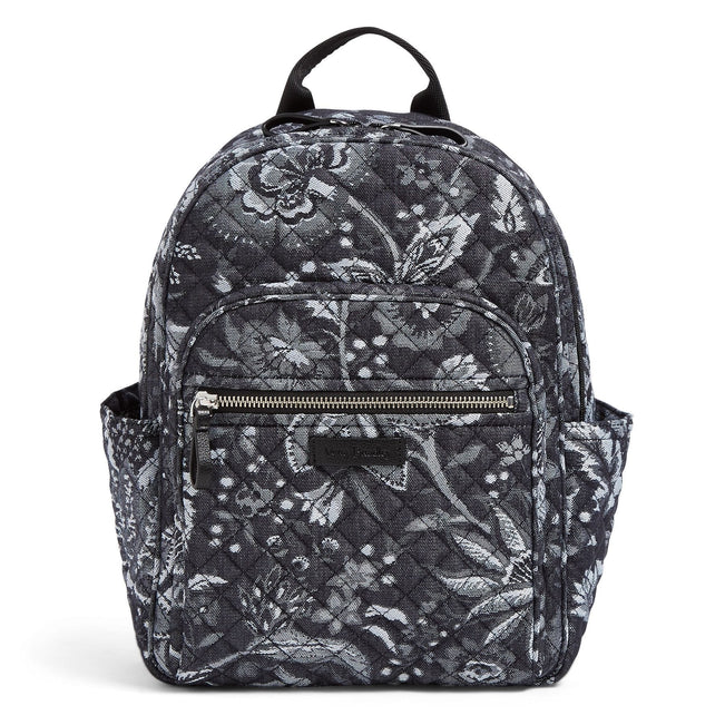 Iconic Small Backpack-Foxwood Navy-Image 1-Vera Bradley