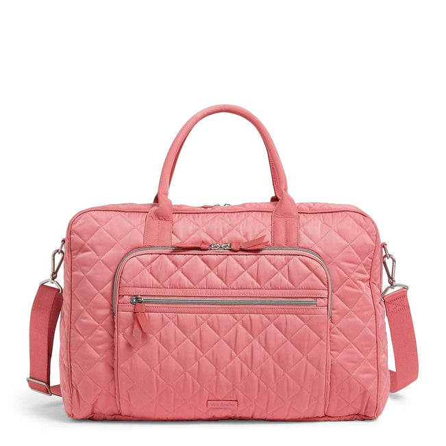 Lay Flat Weekender Travel Bag-Performance Twill Strawberry Ice-Image 1-Vera Bradley