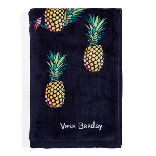 Factory Style Beach Towel-Pineapple-Image 1-Vera Bradley