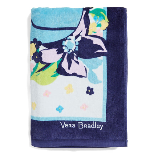 Factory Style Beach Towel-Marian Floral-Image 1-Vera Bradley