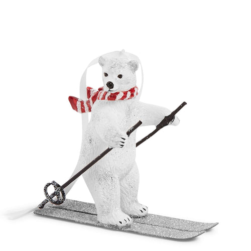Polar Bear Skiing Ornament-Beary Merry-Image 1-Vera Bradley