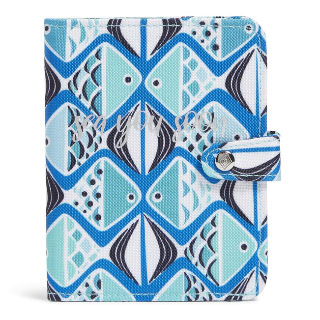 Factory Style Lighten Up Passport Cover-Go Fish Blue-Image 1-Vera Bradley