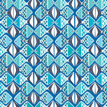 Factory Style Lighten Up Passport Cover-Go Fish Blue-Image 3-Vera Bradley