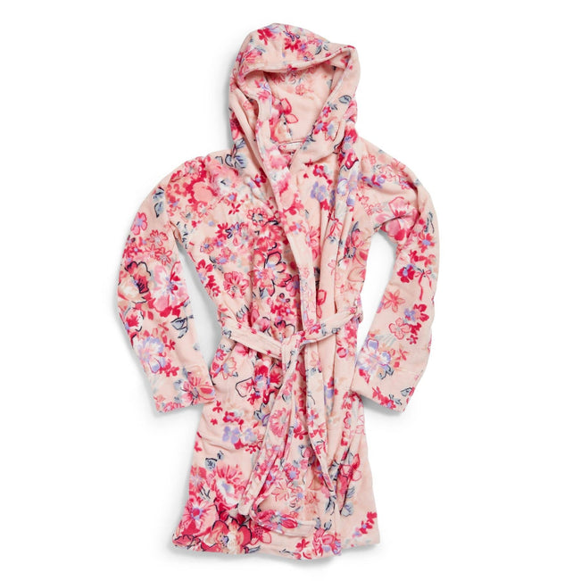 Plush Fleece Robe-Pretty Posies Pink-Image 1-Vera Bradley