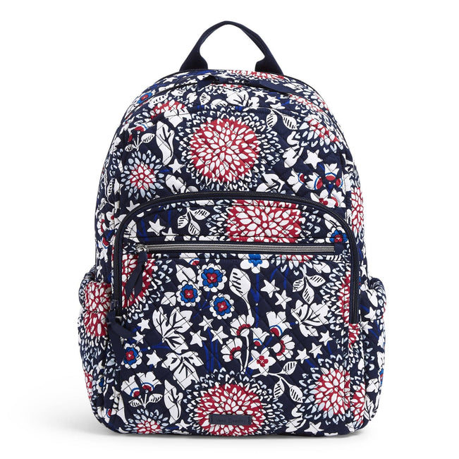 Campus Backpack-Red White & Blossoms-Image 1-Vera Bradley