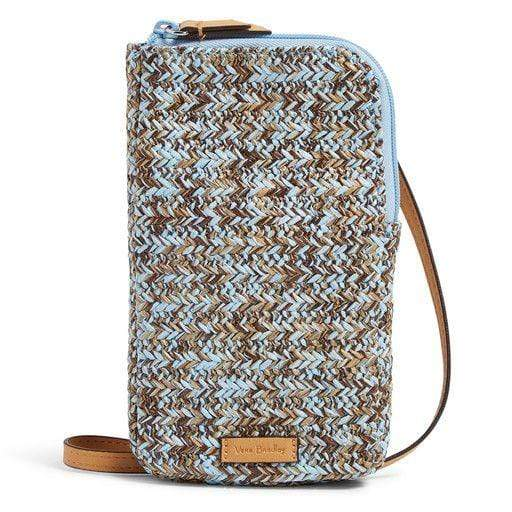 Straw Cellphone Crossbody-Mint Brown Sea Life-Image 1-Vera Bradley
