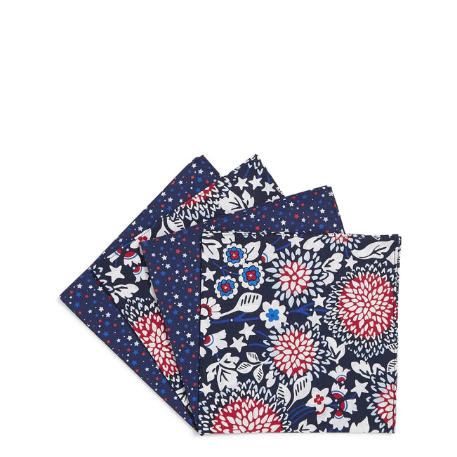 Napkin Set of 4-Red White & Blossoms-Image 1-Vera Bradley