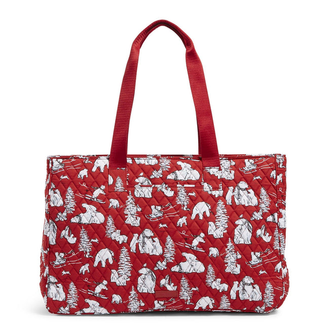 Factory Style Dual Compartment Travel Bag-Beary Merry Red-Image 1-Vera Bradley