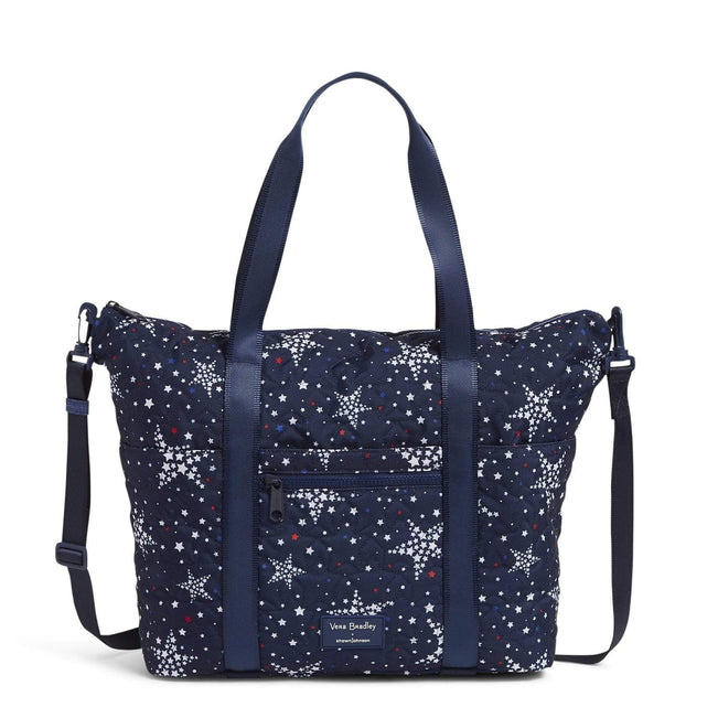 Deluxe Tote with Pouch-Star Power-Image 1-Vera Bradley