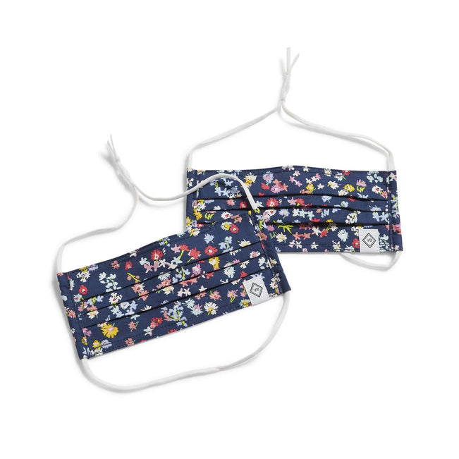 Pleated Mask - 2 Pack-Scattered Wildflowers-Image 1-Vera Bradley