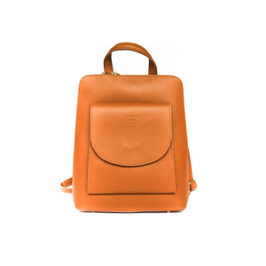 Backpack leather color brown