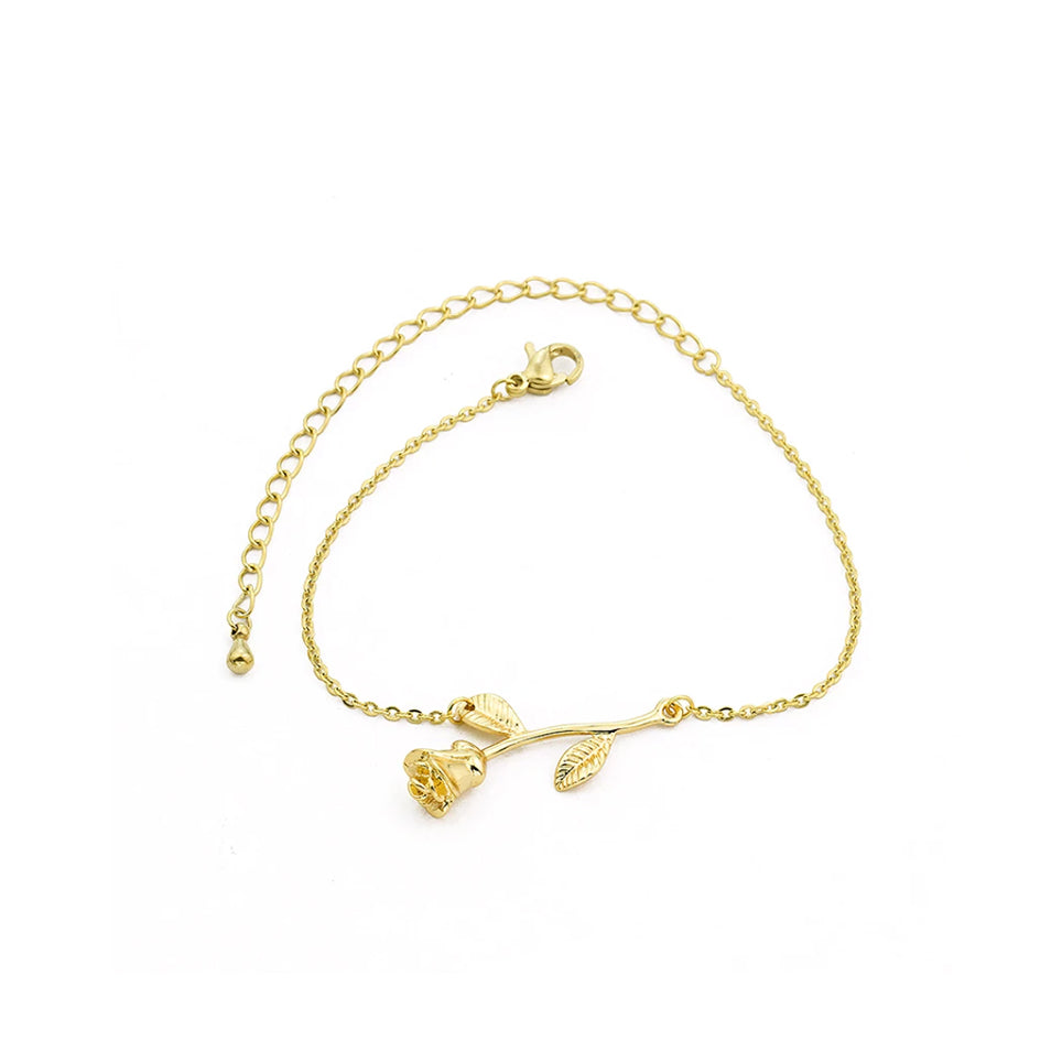 Flower Bracelet - color gold