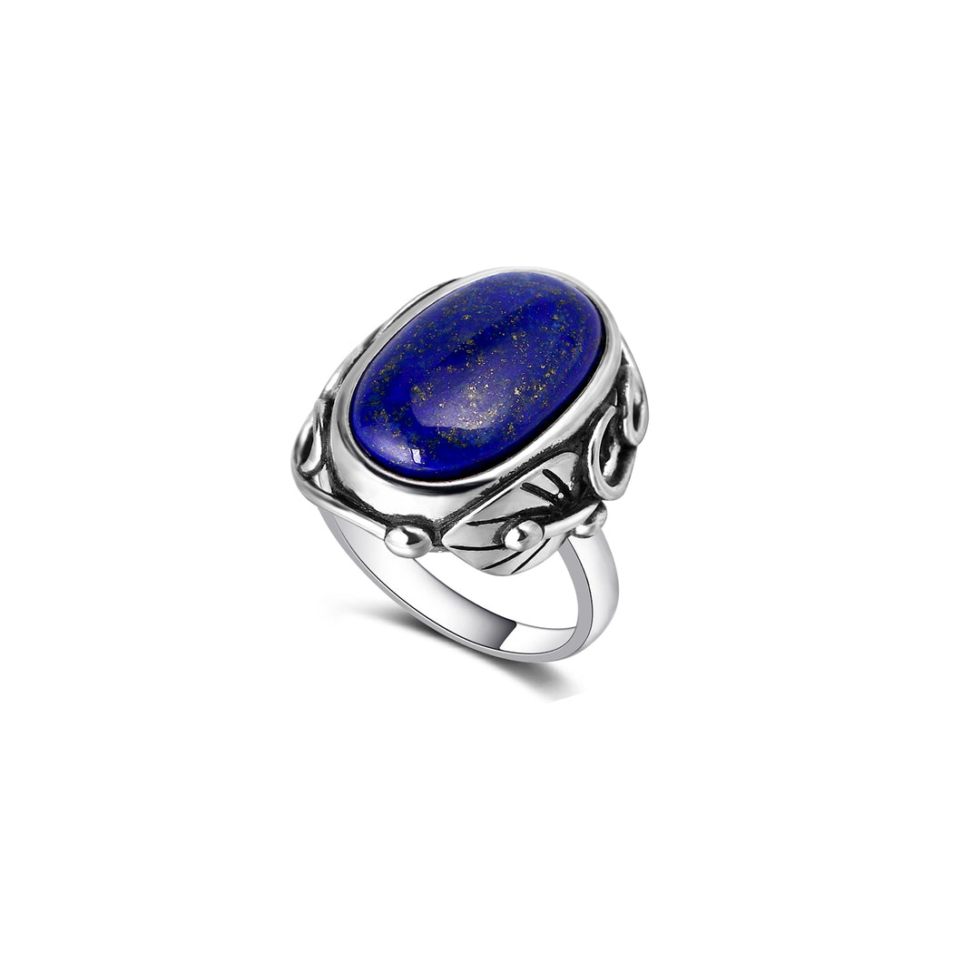 Silver ring with Lapis Lazuli