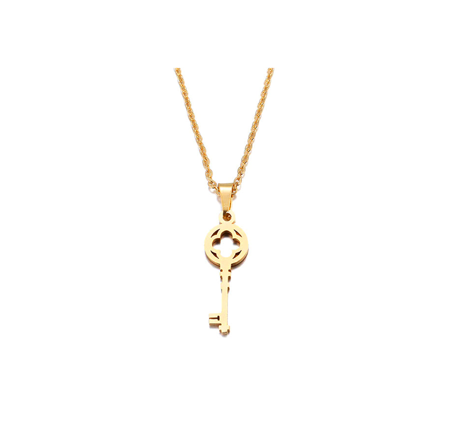 Key Necklace - color gold