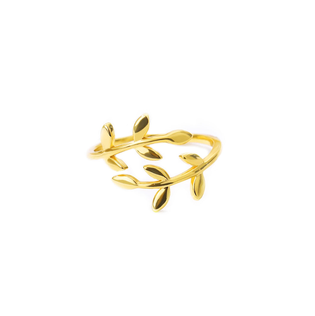 Leaf ring - color gold