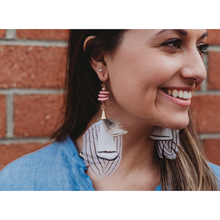 Load image into Gallery viewer, BLUSH FEATHER EARRINGS