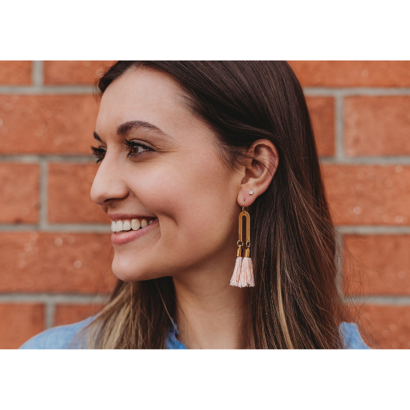 BRASS TASSEL EARRINGS