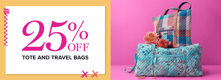 25% off Travel and Tote Bags