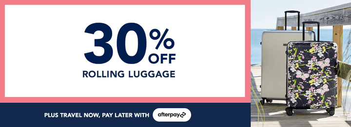 30% off Rolling Luggage