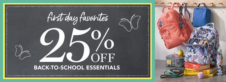 25% off Back to School Essentials-Vera Bradley