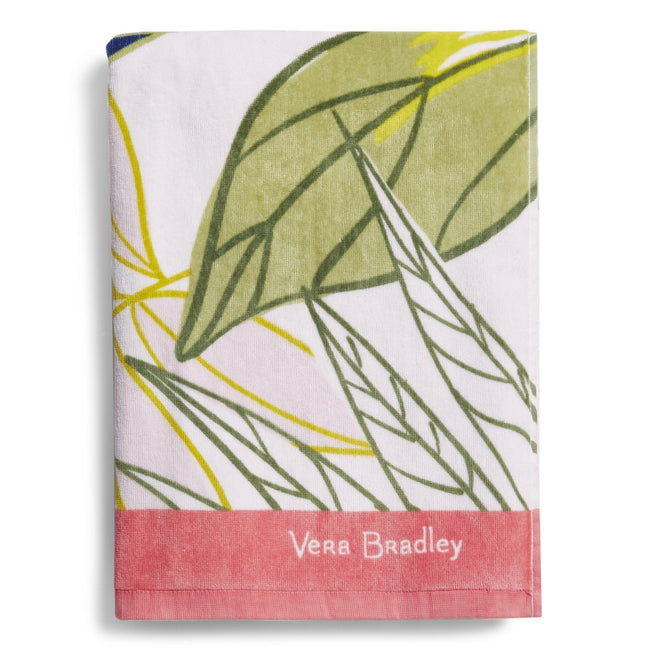 Beach Towel-Rain Forest Leaves-Image 1-Vera Bradley