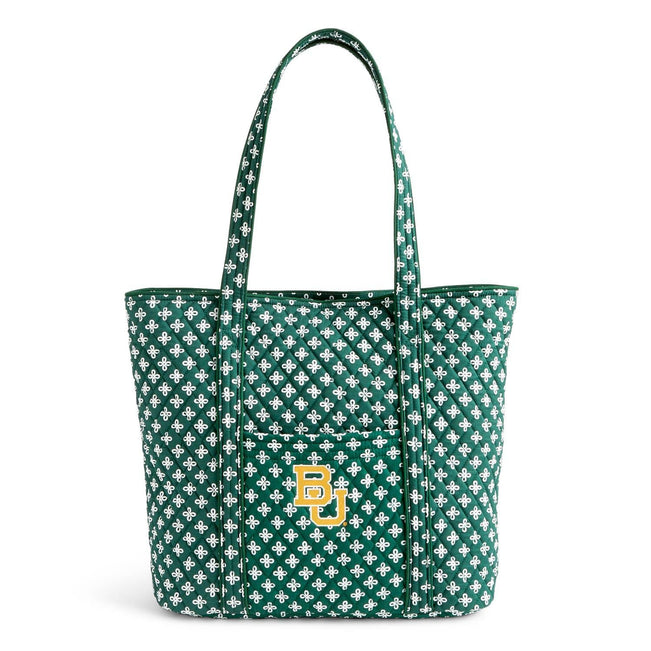 Collegiate Vera Tote Bag-Dk Green/White Mini Concerto with Baylor University Logo-Image 1-Vera Bradley
