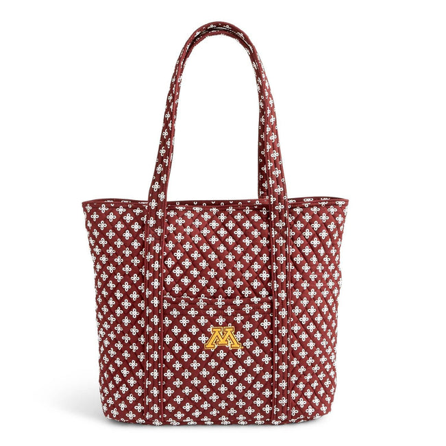 Collegiate Vera Tote Bag-Maroon/White Mini Concerto with University of Minnesota Logo-Image 1-Vera Bradley