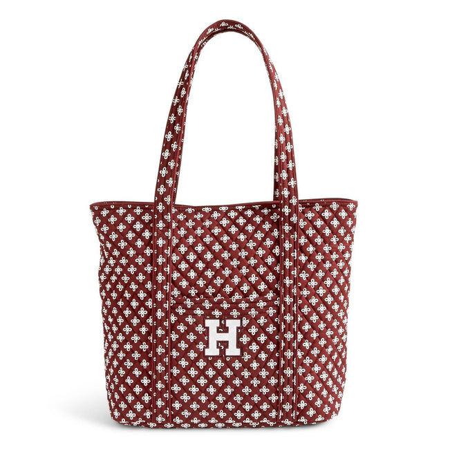 Collegiate Vera Tote Bag-Maroon/White Mini Concerto with Harvard University Logo-Image 1-Vera Bradley