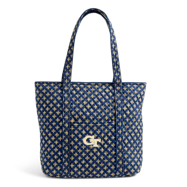 Collegiate Vera Tote Bag-Navy/Fash. Gold Mini Concerto with Georgia Tech Logo-Image 1-Vera Bradley