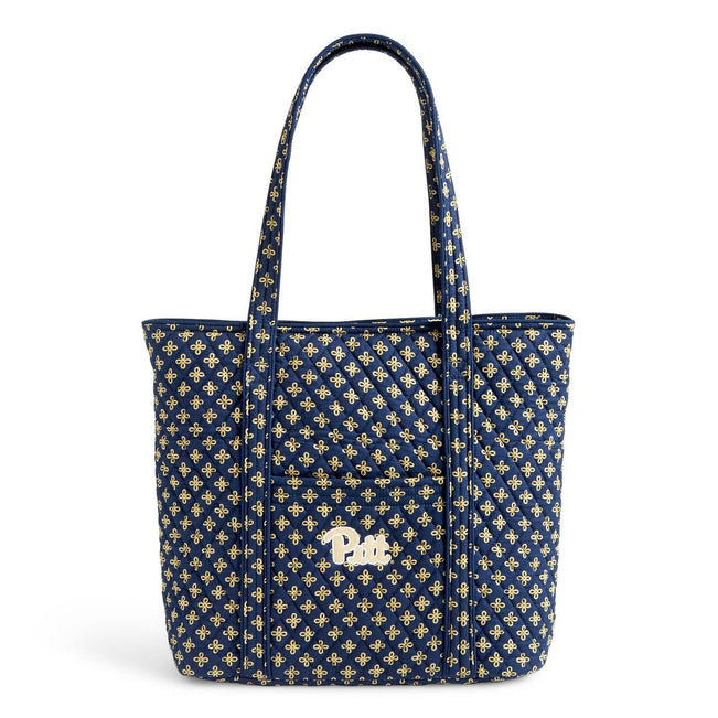 Collegiate Vera Tote Bag-Navy/Fash. Gold Mini Concerto with University of Pittsburgh Logo-Image 1-Vera Bradley
