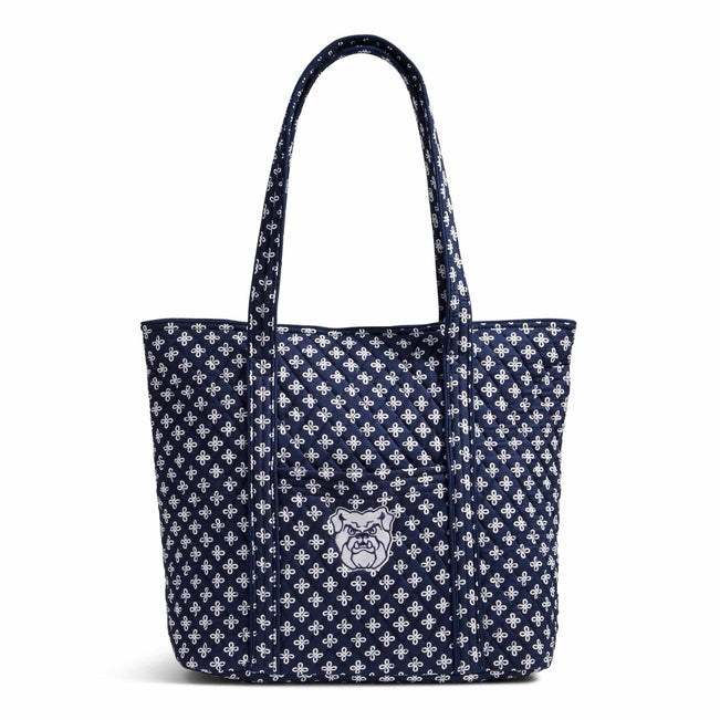 Collegiate Vera Tote Bag-Navy/White Mini Concerto with Butler University Logo-Image 1-Vera Bradley