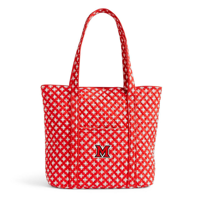 Collegiate Vera Tote Bag-Red/White Mini Concerto with Miami of Ohio Logo-Image 1-Vera Bradley