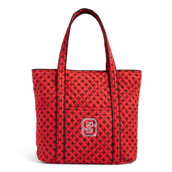 Collegiate Vera Tote Bag-Red/Black Mini Concerto with North Carolina State University Logo-Image 1-Vera Bradley
