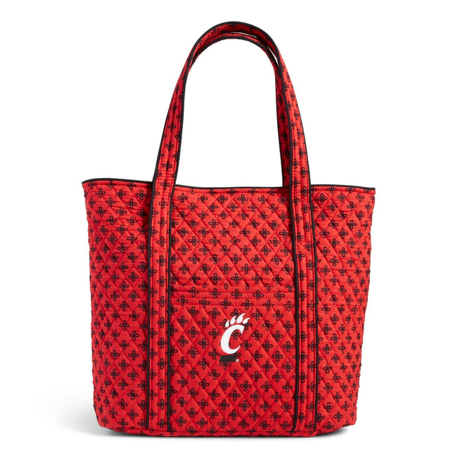 Collegiate Vera Tote Bag-Red/Black Mini Concerto with University of Cincinnati Logo-Image 1-Vera Bradley