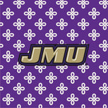 Collegiate Vera Tote Bag-Purple/White Mini Concerto with James Madison University Logo-Image 2-Vera Bradley
