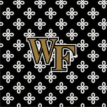 Collegiate Vera Tote Bag-Black/White Mini Concerto with Wake Forest University Logo-Image 2-Vera Bradley