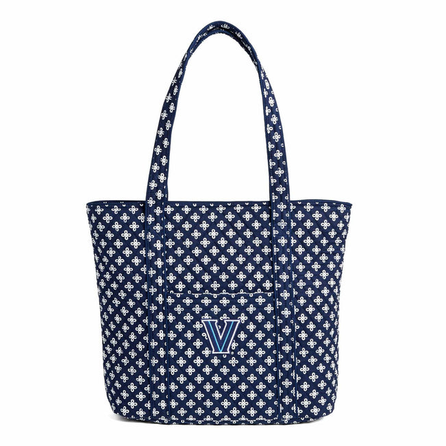 Collegiate Vera Tote Bag-Navy/White Mini Concerto with Villanova Logo-Image 1-Vera Bradley