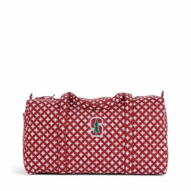 Collegiate Large Travel Duffel Bag-Cardinal/White Mini Concerto with Stanford University Logo-Image 1-Vera Bradley