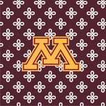 Collegiate Large Travel Duffel Bag-Maroon/White Mini Concerto with University of Minnesota Logo-Image 2-Vera Bradley
