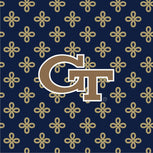 Collegiate Large Travel Duffel Bag-Navy/Fash. Gold Mini Concerto with Georgia Tech Logo-Image 2-Vera Bradley