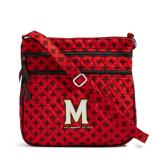 Collegiate Triple Zip Hipster Crossbody-Red/Black Mini Concerto with University of Maryland Logo-Image 1-Vera Bradley